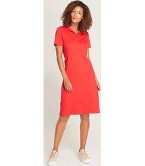 vestido midi unicolor rojo 6