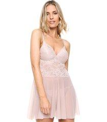conjunto rosa andressa triángulo soft less regulable