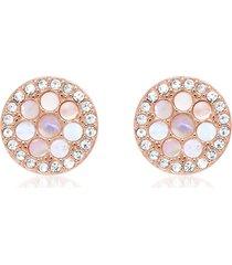 fossil designer earrings, vintage glitz rose gold tone studs earrings
