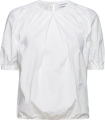 rodebjer nahua cotton blouses short-sleeved wit rodebjer
