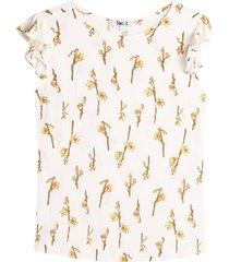 blusa mujer floral color blanco, talla xs