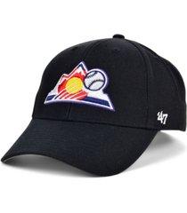'47 brand colorado rockies on-field replica mvp cap