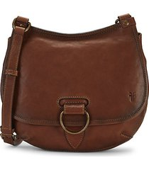 lucy leather saddle crossbody bag