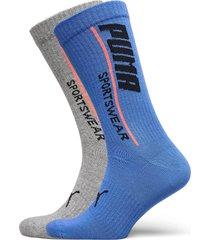 puma men logo sock 2p underwear socks regular socks blå puma