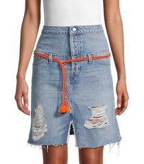 hudson women's distressed denim skirt - overthrow - size 25 (2)