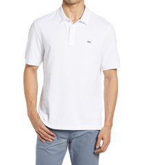 brax pete stretch cotton polo shirt, size x-large in white at nordstrom