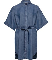ucla dresses jeans dresses blå violeta by mango