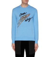 'casa way' intarsia sweater