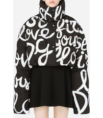 dolce & gabbana cropped jacket with print