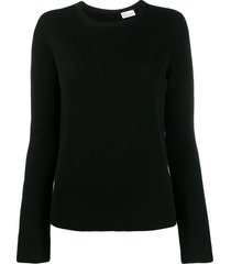 redvalentino point d'esprit tulle sweater - black