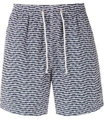 track & field beach ultramax stretch printed shorts - blue