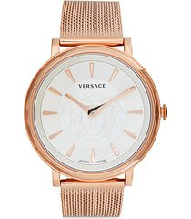 rose goldtone stainless steel bracelet watch