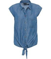 camicia in tencel con nodo (blu) - bodyflirt