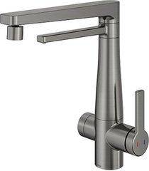misturador monocomando para cozinha mesa com purificador vitalis grafite escovado - 00808970 - docol - docol