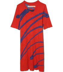 sonia dress in red/blue