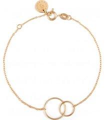 bransoletka na cienkim łańcuszku z 2 obręczami