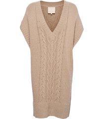 cotton knit mini dress kort klänning brun by ti mo