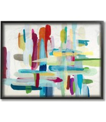 """stupell industries colorful cross hatch abstraction framed giclee art, 11"""" x 14"""""""