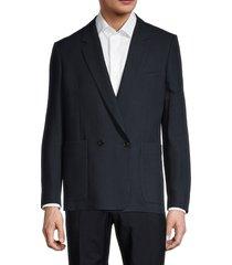 paul smith men's standard-fit double-breasted virgin wool blazer - wine - size 50 (40)