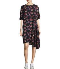 rima asymmetrical floral dress