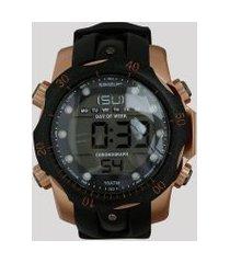 relógio digital speedo masculino - 11005g0evnp2 preto