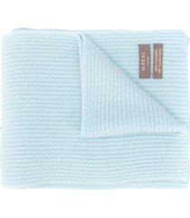 n.peal ribbed-knit cashmere scarf - blue