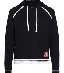 calvin klein ck one sock-stripe lounge hoodie