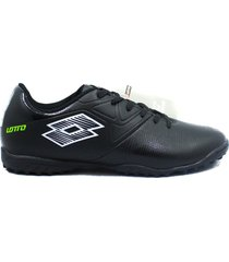 zapatillas para futbol torretin lotto sandros tf h2c - negro