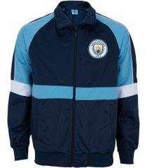 jaqueta manchester city trilobal - masculina - azul escuro