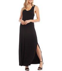women's karen kane cara cross back maxi dress