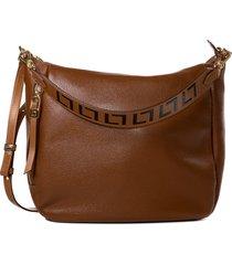 bolsa feminina casual luz da lua em couro ambar