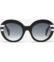 rodeo round frame sunglasses black 1