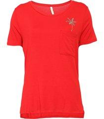 blusa lunender coqueiro vermelha - vermelho - feminino - viscose - dafiti
