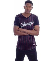 camiseta mitchell & ness especial soccer chicago bulls preta - preto - masculino - dafiti