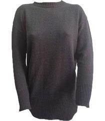 sweater  negro zaf liso