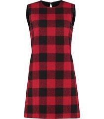 dsquared2 tartan-wool dress