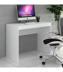 mesa escrivaninha 100 cm branco tx/branco tx ho-2901 - hecol