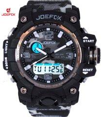 reloj para hombre joefox plastico camuflado 1523b - gris oscuro