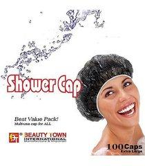 100 pcs beauty town brand transparent disposable shower cap hair dye cap