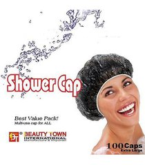 100 pcs beauty town brand transparent disposable shower cap hair dye cap