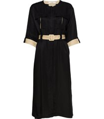 lorahgz dress ms20 jurk knielengte zwart gestuz