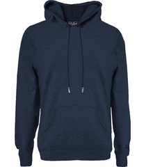 blended cashmere blue hooded sweater