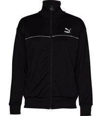 classics poly track jkt sweat-shirt tröja svart puma