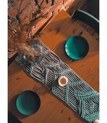bieżnik na stół boho obrus na stól makrama
