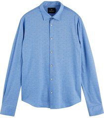 scotch & soda classic knitted shirt combo a