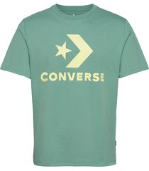 converse star chevron tee t-shirts short-sleeved grön converse