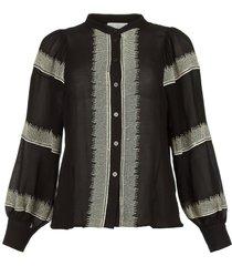 blouse linsey  zwart
