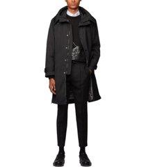 boss men's celton water-repellent hooded coat