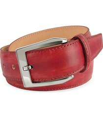 pakerson designer men's belts, men's red hand painted italian leather belt