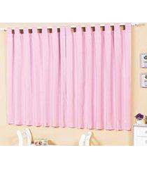 cortina 2 metros baila rosa com 1 peã§as em poliã©ster - ione enxovais - rosa - dafiti